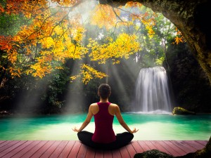 yoga-at-waterfall
